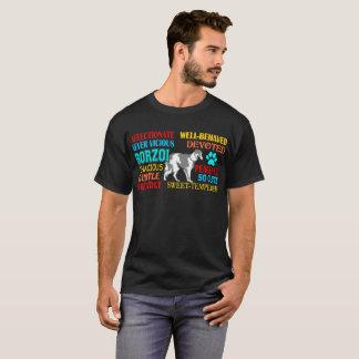 Cute Devoted Affectionate Borzoi Dog Tshirt