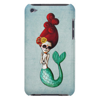 Cute Dia de Los Muertos Mermaid Girl iPod Case-Mate Cases