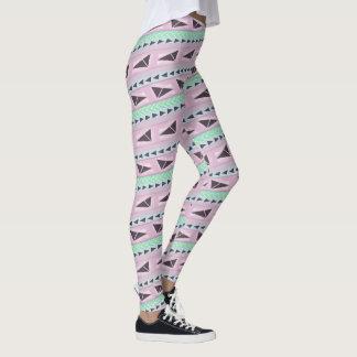 cute diagonal aztec print leggings