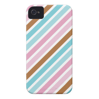 Cute Diagonal Thick Stripes Custom iPhone 4 Case-Mate Case