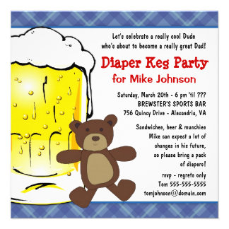 Cute Diaper Keg Party Invitations - Dadcelor Party