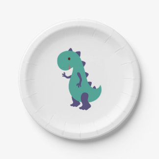 Cute Dino Plate