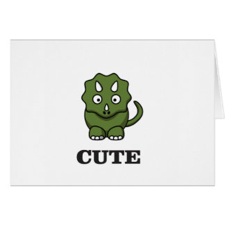 cute dinosaur art card