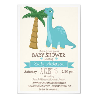Cute Dinosaur Baby Shower or Sprinkle Card