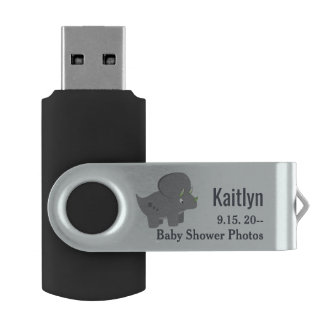 Cute Dinosaur | Baby Shower To Honor the New Mom USB Flash Drive
