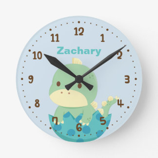 Cute Dinosaur in Egg Nursery Room Decor Wall Clock