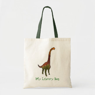 Cute dinosaur kids library bag