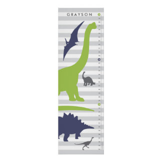 Cute Dinosaur Nursery Growth Chart - Dino Decor