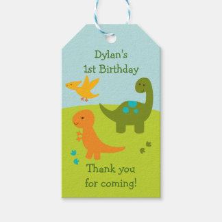 Cute Dinosaur Party Favor Tags