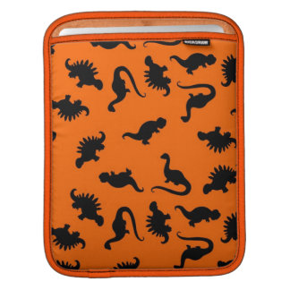 Cute Dinosaur Pattern on Orange iPad Sleeve