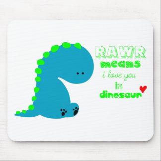 Cute Dinosaur RAWR Mousepad