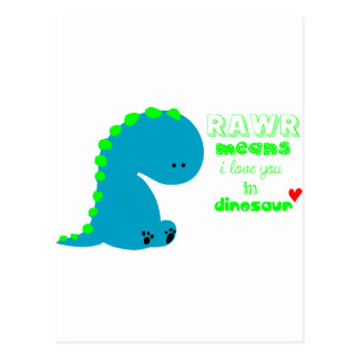 Cute Dinosaur RAWR Postcard