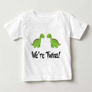 Cute Dinosaur Twins Gift Baby T-Shirt