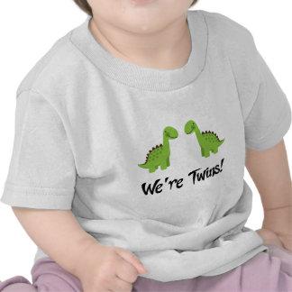 Cute Dinosaur Twins Gift Tshirt