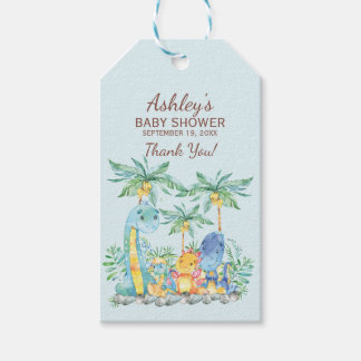 Cute Dinosaurs  Baby Shower Favor Gift Tag