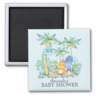 Cute Dinosaurs Baby Shower Favor  Magnet