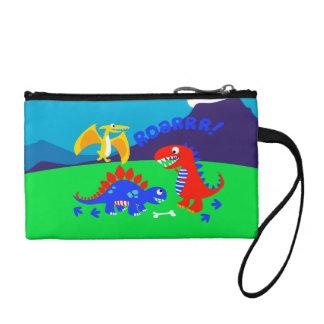 Cute dinosaurs coin purse