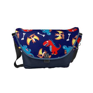 Cute dinosaurs commuter bags