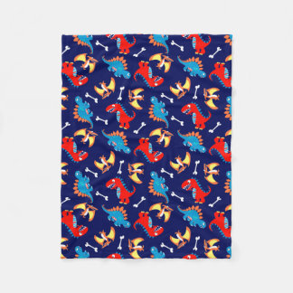 Cute dinosaurs fleece blanket