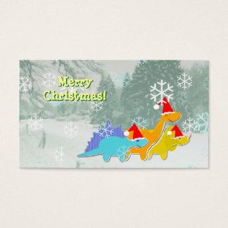 Cute Dinosaurs Small Christmas Greetings Cards