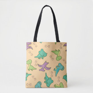 Cute Dinosaurs Tote Bag