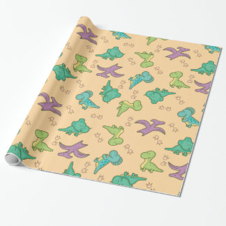 Cute Dinosaurs Wrapping Paper