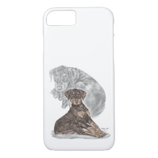 Cute Doberman Pinscher Puppy iPhone 8/7 Case