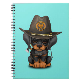 Cute Doberman Puppy Zombie Hunter Notebook