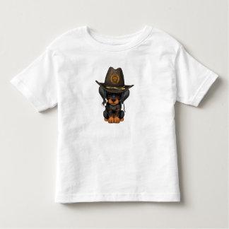 Cute Doberman Puppy Zombie Hunter Toddler T-Shirt