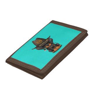 Cute Doberman Puppy Zombie Hunter Tri-fold Wallets