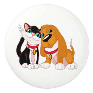 Cute Dog and Cat Knobs