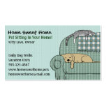 Cute Dog and Cat Pet Sitting - Animal Services Business Card Template