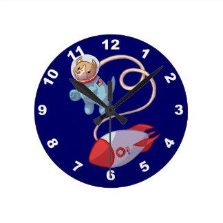 Cute Dog Astronaut Wall Clock