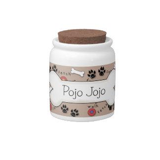 Cute Dog Bone Treat Jar Candy Dish