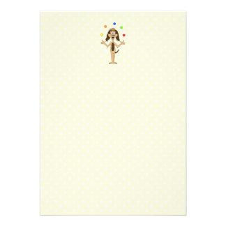 Cute Dog Cartoon Juggler Announcements