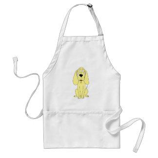Cute Dog Cartoon. Yellow Hound. Standard Apron