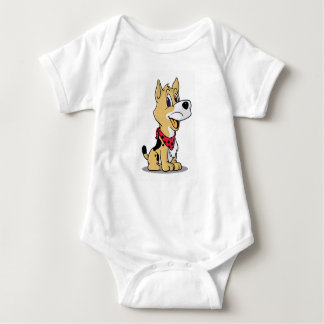 cute dog coboy baby bodysuit