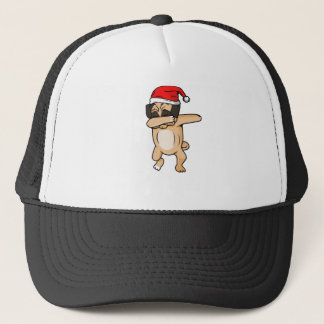 Cute Dog dab with santa hat Chrismas T-Shirt