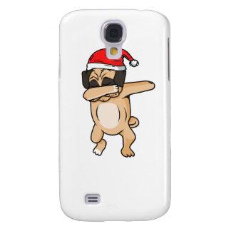 Cute Dog dab with santa hat Chrismas T-Shirt Galaxy S4 Cases