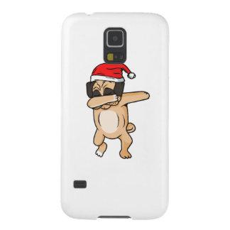 Cute Dog dab with santa hat Chrismas T-Shirt Galaxy S5 Cover