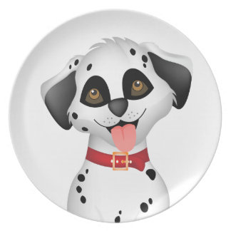 Cute dog Dalmatian Dinner Plate