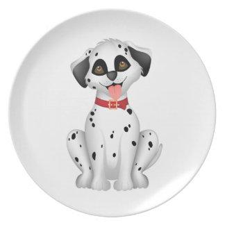 Cute dog Dalmatian Plate