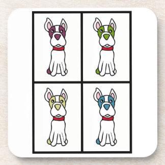 Cute Dog Drawing - Bos Coaster