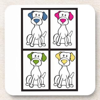 Cute Dog Drawing - Labrador Coaster