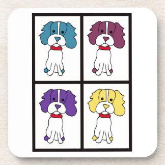 Cute Dog Drawing - Spaniel Coaster
