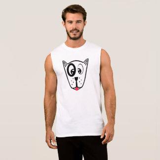 Cute Dog Face Sleeveless Shirt