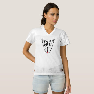 Cute Dog Face Women's Football Jersey