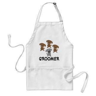 Cute Dog Groomer Occupation Gift Standard Apron