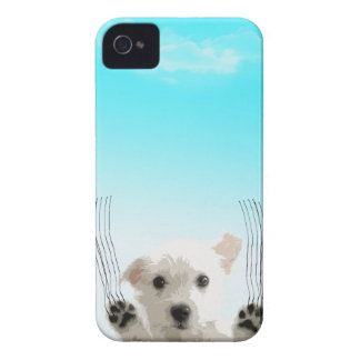 """Cute dog - """"let me in"""" iPhone 4 Case-Mate cases"""