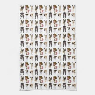 Cute dog pattern kitchen towels